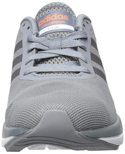 Adidas NEO Men's Cloudfoam Flow Shoe,Grey/Dark Solid Grey,11 M US