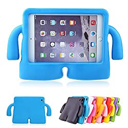 Lioeo iPad Mini Case for Kids Freestanding with Handle Lightweight EVA Foam Case for Apple iPad Mini 4 3 2 1 7.9 inch (Blue)