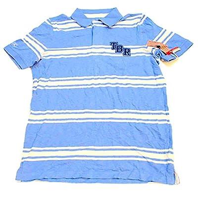 Tampa Bay Rays Men's Antigua MLB Polo Short Sleeve Shirt Blue White (L)