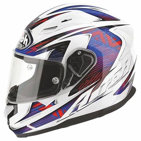 T6B18 airoh t600 casque de moto (bleu)