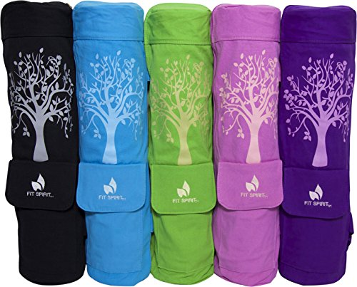 Fit Spirit® Tree of Life Exercise Yoga Mat Bag w/ 2 Cargo Pockets Choose Your Color