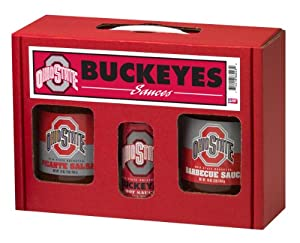 Ohio State Buckeyes Ncaa Tailgate Kit 5oz Hot Sauce 16oz Bbq Sauce 16oz Picante Salsa by Hot Sauce Harry's
