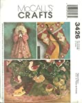 McCall's Crafts Pattern 3426 ~ Christmas Holiday Ornaments, Tree Skirt, Stockings and Angel by Glena Rosenbaum