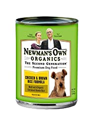 Newman's Own Organics Chicken &amp; Brown Rice Formula for Dogs, 12.7-Ounce Cans (Pack of 12)