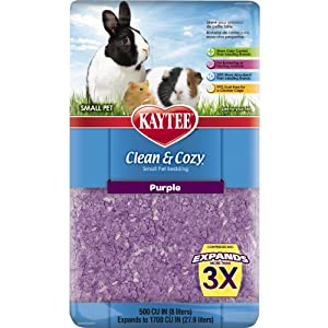 Kaytee Clean and Cozy Bedding, Purple, 500-Cubic-Inch