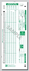 SCANTRON 881 compatible, pack of 100 sheets** Genuine PDP 881 Forms, ScantronTM 888P scanners use PDP 9700 Item Analysis.