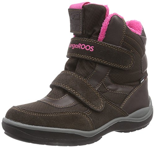 KangaROOS KangaSnowGirls 2019, Scarponi da neve imbottiti, a mezza gamba Unisex - bambino, Marrone (Braun (dk brown/magenta 366)), 33