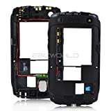 GENUINE BLACK MIDDLE FRAME FOR BLACKBERRY CURVE 9360 & 9350 MIDPLATE CHASSIS HOUSING INCLUDES HEADPHONE EARPHONE JACK + LOUDSPEAKER + ANTENNA + FLEX + SIDE TOP BUTTONS