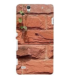 PrintVisa Brick Wall Design 3D Hard Polycarbonate Designer Back Case Cover for Sony Xperia C4 Dual