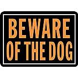 "Hy-Ko 838 Beware of the Dog Sign, 10"" x 14"""