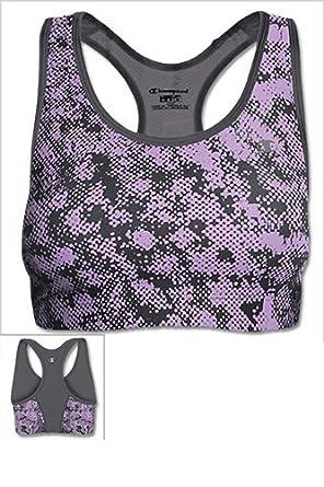 Champion Women's Absolute Workout Sports Bra, Razzmataz Brushed Away/Razzmataz, X-Large