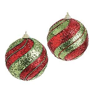 "RAZ Imports - 4"" Swirl Ornaments - Set of 2"