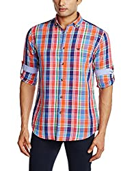 Park Avenue Men's Casual Shirt (8907117090073_PCSZ00824-E5_42_Medium Orange)