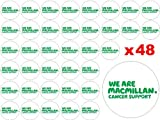 48 x 3cm Macmillan Mac Millan Cancer Support Research Charity Logo Coffee Morning Good Night In Fairy Cup Cake Toppers Decoration Edible Rice Wafer Paper