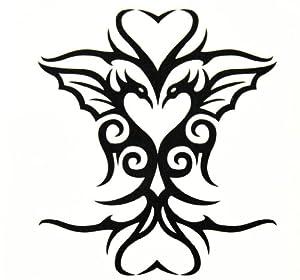 Amazon.com: BT0025 Bird Heart-Shapedf Phoenix Tattoo, Easy
