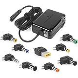 POWERocker Universal Laptop AC Adapter 20V 3.25A 65W Battery Charger Lightweight Slim Version Power Supply (Black)