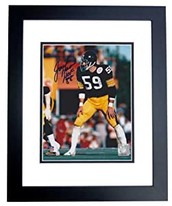Jack Ham Autographed Hand Signed Pittsburgh Steelers 8x10 Photo - BLACK CUSTOM FRAME... by Real Deal Memorabilia