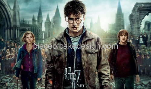 1/8 Sheet ~ Harry Potter 7 Part 2 Harry & Group Birthday ~ Edible Image Cake/Cupcake Topper!!!