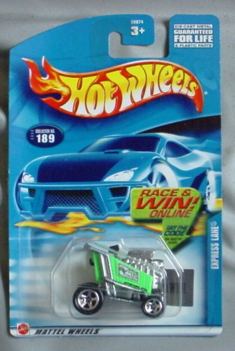 Hot Wheels 2002 Express Lane #189 GREEN Shopping Cart - 1