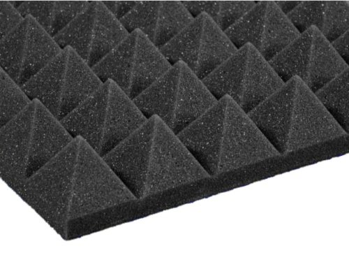 12 Pack Of (12X12X2)Inch Acoustical Pyramid Foam Panel For Soundproofing Studio & Home Theater-Charcoal Grey