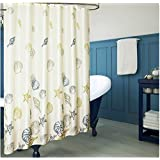 Home-Sets Waterproof Thickened Fabric Shower Curtain , 72 x 72 Inch,Shell-White