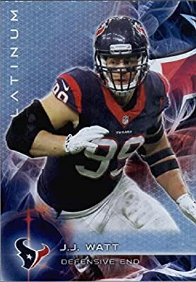 2015 Topps Platinum #17 J.J. Watt Houston Texans Football Card