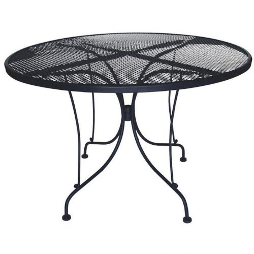 DC America WIT248 Charleston Wrought Iron Table, 48-Inch Diameter