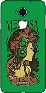 Timpax Protective Hard Back Case Cover With Easy access to all ports Printed Design : A girl and music.100% Compatible with Coolpad Note 3
