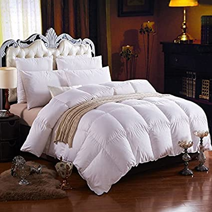 i am absolutely satisfied with my purchase of the 1000tc hungarian goose down comforter fill power of 750 in a king size down comforter spreading away in