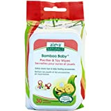 Aleva Naturals Bamboo Baby Pacifier And Toy Wipes, 30 Count (Pack Of 12)
