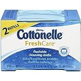 Cottonelle Fresh Care Flushable Cleansing Cloths Pack of 2 (42 Cloths each)