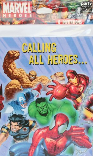 Marvel Heroes Invitation Card 8ct - 1