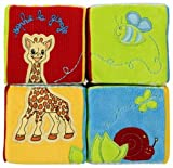 Vulli 230262 - Rompecabezas de 4 cubos de peluche, dise�o Sophie la jirafa