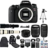Canon EOS Digital Rebel T6s 24.2MP SLR Digital Camera with Canon EF-S 18-55mm IS Lens + Canon 75-300mm Zoom Lens + Canon EF 50mm f 1.8 II Lens + 500mm Preset Telephoto Lens + 650-1300mm Zoom Lens