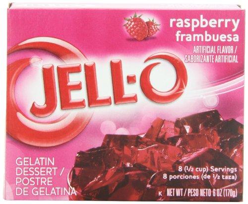 JELL-O Gelatin Dessert, Raspberry, 6-Ounce Boxes (Pack of 24)