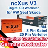 "ncXus V3 8-Pin + 20-Pin Verteiler USB SD MP3 CD Wechsler Interface f�r VW AUDI SKODA SEATvon ""ncXus"""
