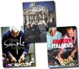 Antonio Carluccio Antonio Carluccio Simple Cooking Collection 3 Recipe Books Set (Antonio Carluccio's Simple Cooking, Two Greedy Italians, Two Greedy Italians Eat Italy)