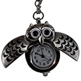 REATR Pocket Watch Alloy Cute Owl Pendant Vintage Quartz Watch with Gift...