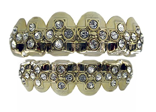Top Row Grillz Top Bottom Row cz Cross