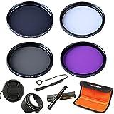 55mm filter, K&F Concept 55mm Slim UV Slim Circular Polarizing CPL Slim FLD ND4 Neutral Density Lens Filter Kit For Sony Alpha Camera with 18-55mm Lens