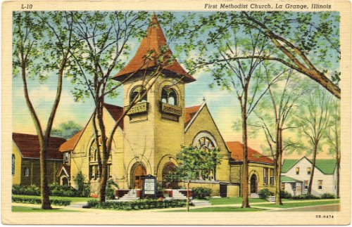 1940s Vintage Postcard - First Methodist Church