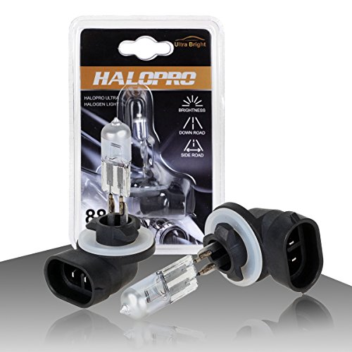HaloPro High Performance 2pcs 881 12V 27W Halogen Fog Driving Light Bulb 3000-4000K Night White 400-600LM For 1995-2013 Hyundai /2003-2013 KIA /Chevrolet Cavalier 1996-1999 (881 Fog Light Bulb 8000k compare prices)