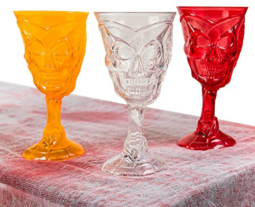 Partay Shenanigans (6) Pack Halloween Skeleton LED Cocktail Glasses (Halloween Wine Glasses compare prices)