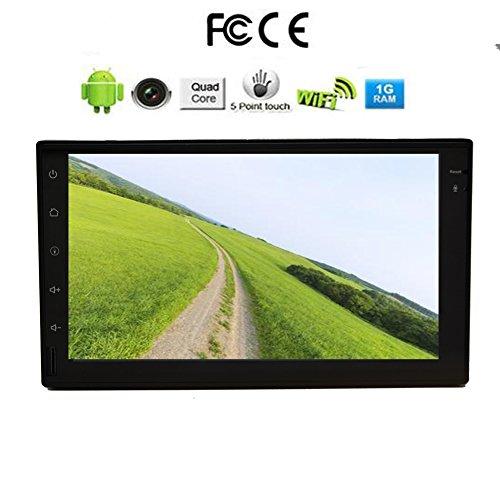 ?7 POLLICI autoradio schermo HD / radio Android 4.4 sistema 2 DIN headunite, funzione Bluetooth, Built-in controllo del volante dello sterzo mappa di navigazione 3D per eincar