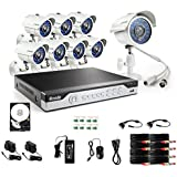 Zmodo KHI8-YARUZ8ZN-1T 8-Channel H.264 960H DVR Security System with 1 TB HD and 8 700TVL IR Cameras (White)