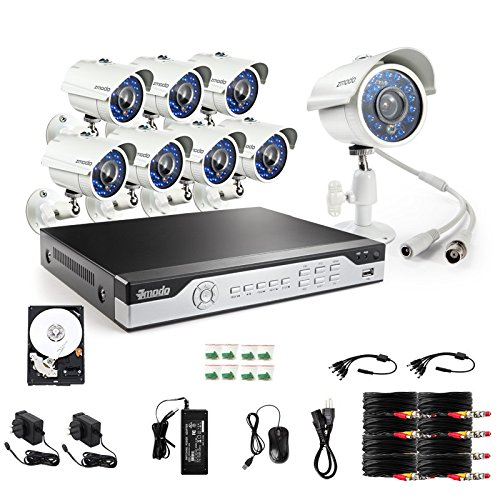 For Sale! Zmodo KHI8-YARUZ8ZN-1T 8-Channel H.264 960H DVR Security System with 1 TB HD and 8 700TVL ...