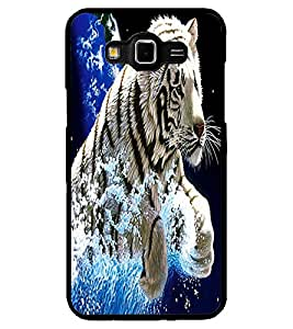 ColourCraft White Tiger Design Back Case Cover for SAMSUNG GALAXY GRAND 3