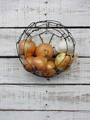 Small Handmade Round Wire Wall Hanging Basket (Wire Wall Planter compare prices)