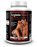 Biomenta® L-ARGININ + MACA   mit 1.500 mg L-Arginin + 3.500 mg Maca + OPC + Avena Sativa + Spirulina Algen + Zink   Für aktive Frauen und Männer   140 Maca-Kapseln
