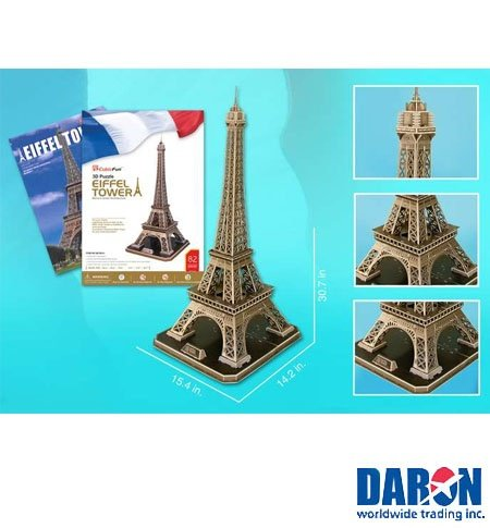 Cheap Daron Eiffel Tower Large 3D Puzzle With Book by Daron Worldwide Trading (CFMC091H) (B002LNCLCE)